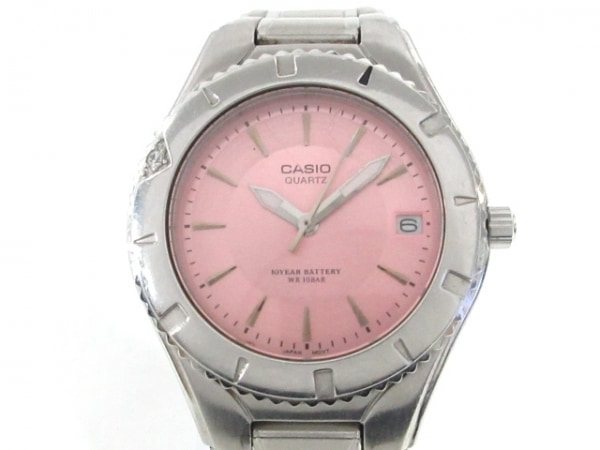 CASIO(カシオ) 腕時計 LTD-1035 レディース 回転ベゼル ピンク