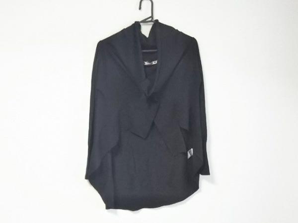 OLLEBOREBLA(アルベロベロ) カーディガン レディース 黒×マルチ 刺繍/ラインストーン