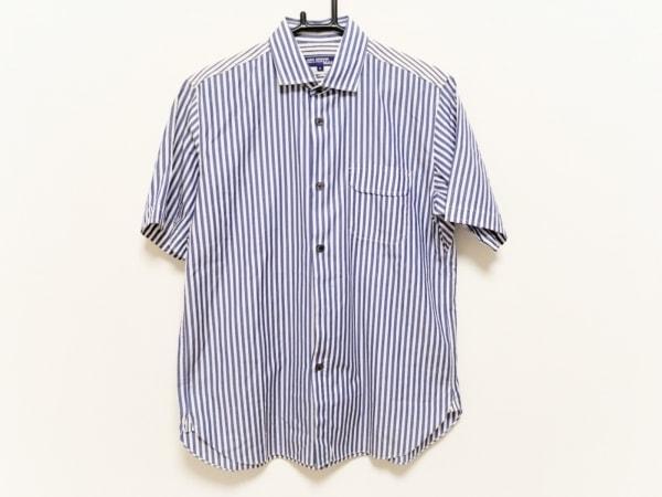 コムデギャルソンジュンヤワタナベメン 半袖シャツ サイズM メンズ ブルー×白