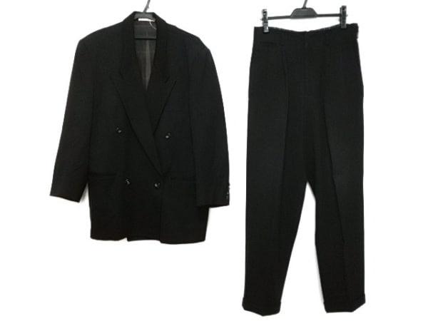 monsieur NICOLE(ムッシュニコル) ダブルスーツ メンズ 黒 肩パッド