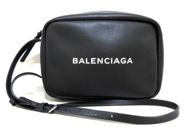 バレンシアガ ショルダーバッグ美品  エブリデイカメラバッグS 489812 黒×白 レザー