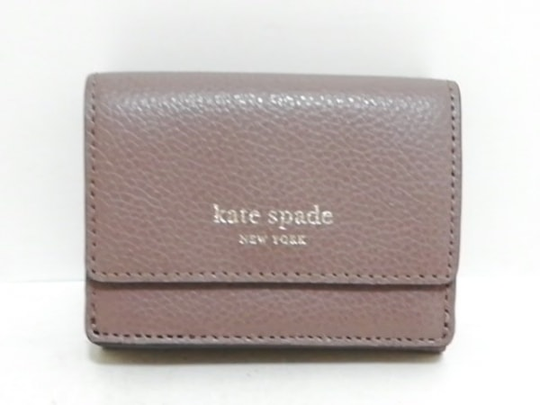 Kate spade(ケイトスペード) 3つ折り財布美品  WLRU5255 ブラウン レザー