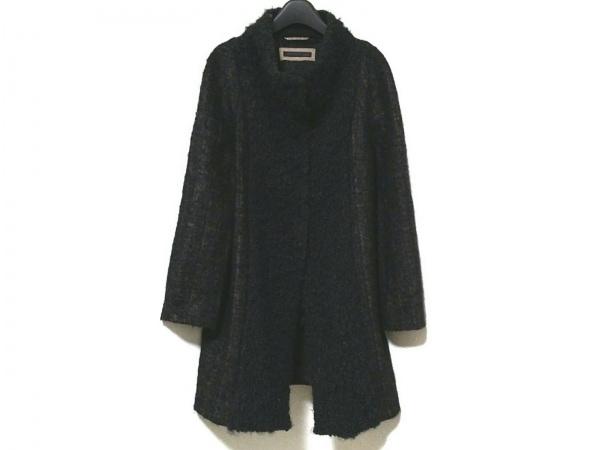 ファビアーナフィリッピ コート サイズ40 M レディース美品  黒×グレージュ