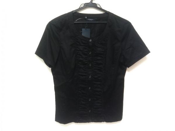 バーバリーロンドン 半袖シャツブラウス サイズ40 L レディース美品  黒