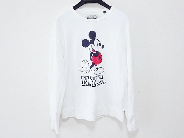 シンゾーン 長袖Tシャツ サイズF メンズ 白×黒×レッド Disney/ミッキー/MIR ROR