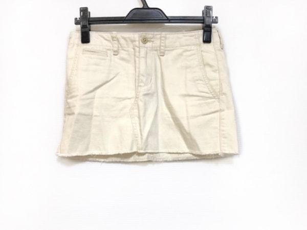 ラルフローレンデニム&サプライ ミニスカート サイズ25 XS レディース アイボリー
