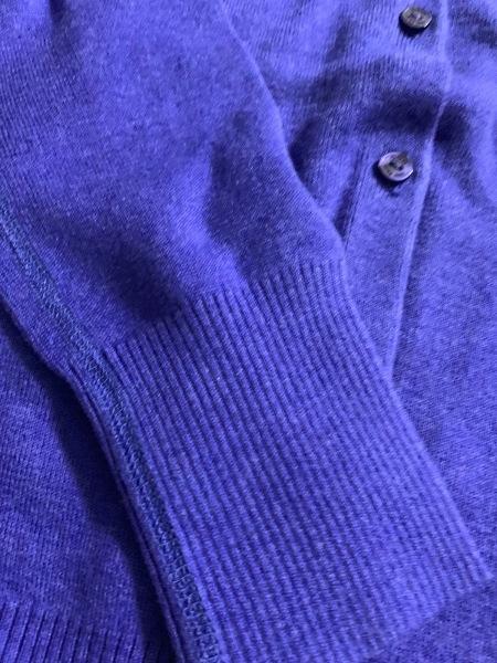 three dots(スリードッツ) カーディガン サイズS レディース新品同様  ブルー