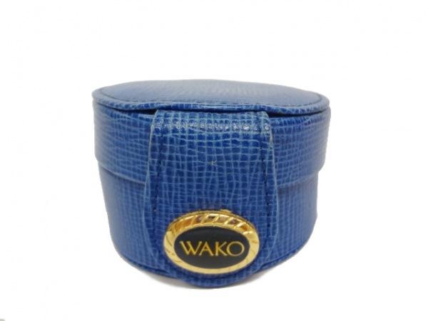 WAKO(ワコー) 小物入れ ネイビー ジュエリーケース レザー