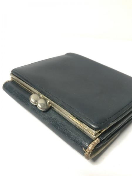 KITAMURA(キタムラ) 3つ折り財布 ネイビー がま口 レザー 8