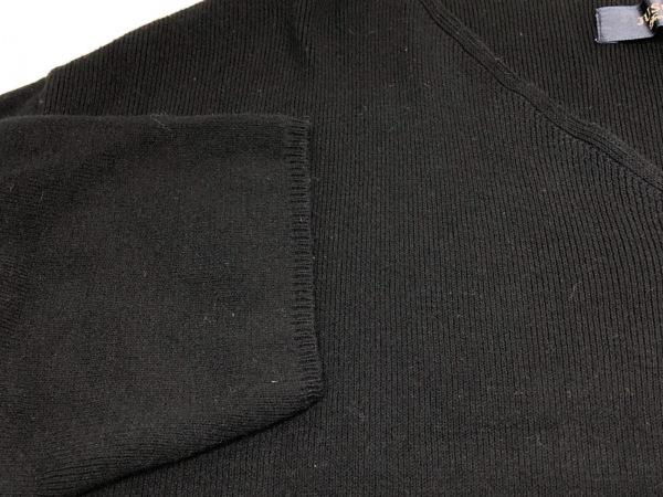 JUSGLITTY(ジャスグリッティー) 七分袖セーター サイズ2 M レディース 黒