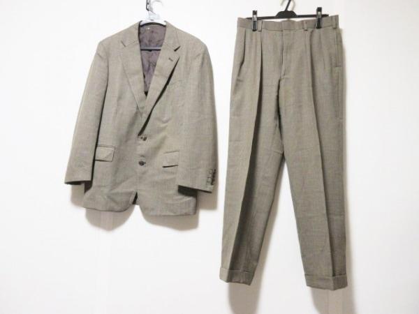 J.PRESS(ジェイプレス) シングルスーツ サイズC94W80T175 メンズ ブラウン×マルチ