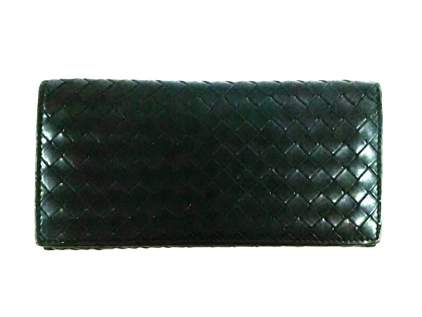 BOTTEGA VENETA(ボッテガヴェネタ) 札入れ美品  イントレチャート 120697 黒 レザー