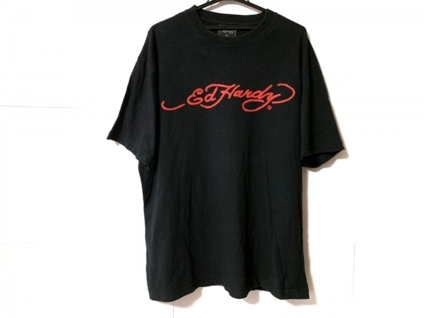 Ed Hardy(エドハーディー) 半袖Tシャツ サイズ3L メンズ 黒 スカル