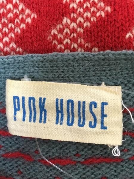 PINK HOUSE(ピンクハウス) カーディガン レディース グリーン×レッド
