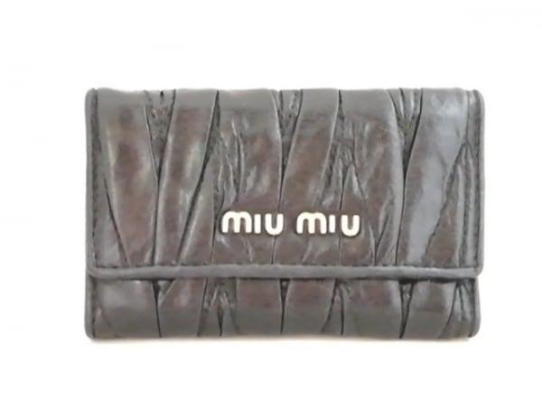 miumiu(ミュウミュウ) キーケース - 黒 6連フック レザー