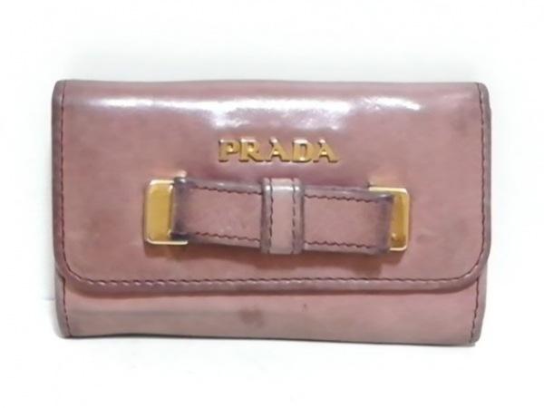 PRADA(プラダ) キーケース - ピンク リボン/6連フック レザー