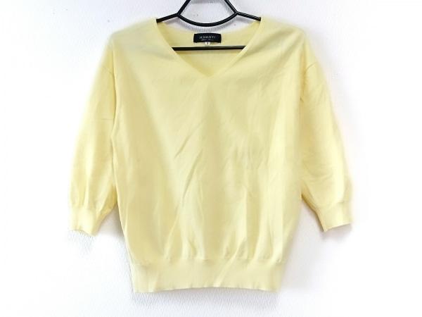 ジャスグリッティー 七分袖セーター サイズ2 M レディース美品  イエロー ニット