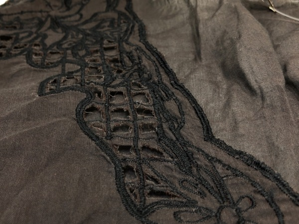 ガリャルダガランテ ワンピース レディース ダークブラウン×黒 刺繍
