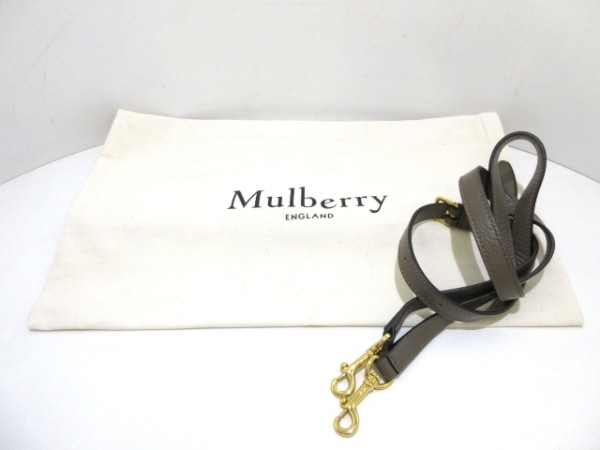 MULBERRY(マルベリー) ハンドバッグ美品  - グレージュ レザー