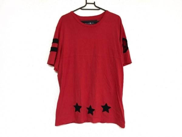 HYDROGEN(ハイドロゲン) 半袖Tシャツ サイズXL メンズ レッド×黒 スカル