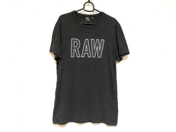 G-STAR RAW(ジースターロゥ) 半袖Tシャツ サイズL メンズ美品  ダークグレー×白