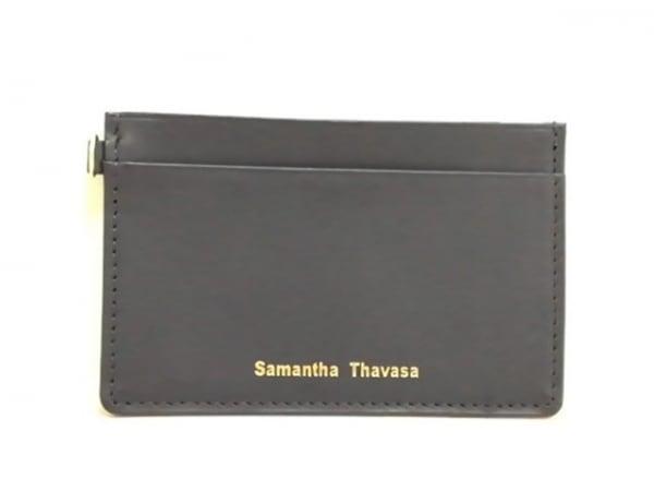 Samantha Thavasa(サマンサタバサ) パスケース美品  ネイビー 合皮