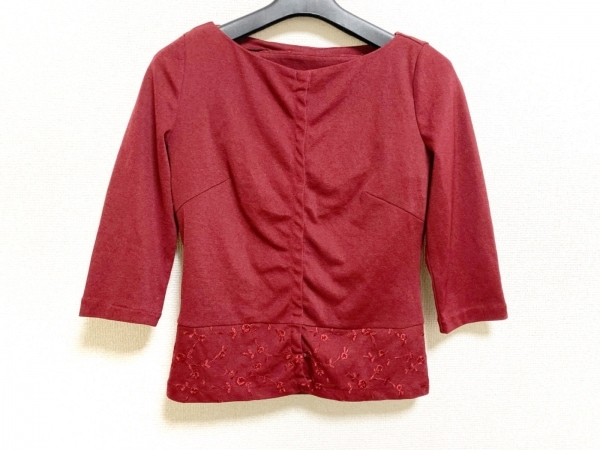 Sybilla(シビラ) アンサンブル サイズM レディース美品  レッド 刺繍