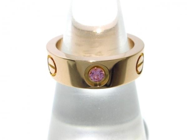 カルティエ リング 49新品同様  ラブ K18PG×ピンクサファイヤ ピンクサファイア