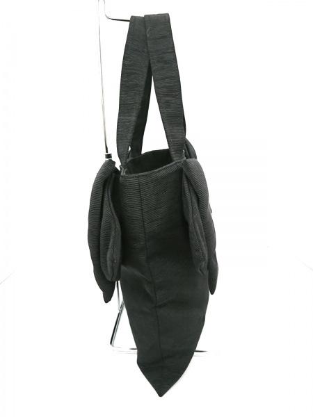 MUGUET(ミュゲ) トートバッグ新品同様  黒 リボン 化学繊維