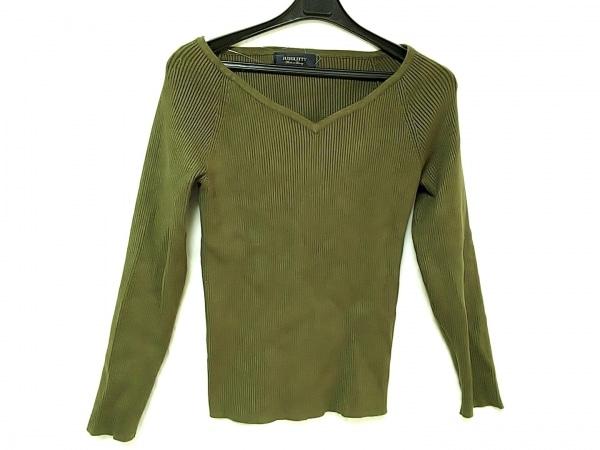 JUSGLITTY(ジャスグリッティー) 長袖セーター サイズ2 M レディース ダークグリーン