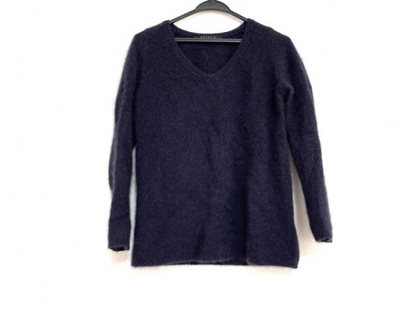 MATERIA(マテリア) 長袖セーター サイズ38 M レディース ネイビー モヘア