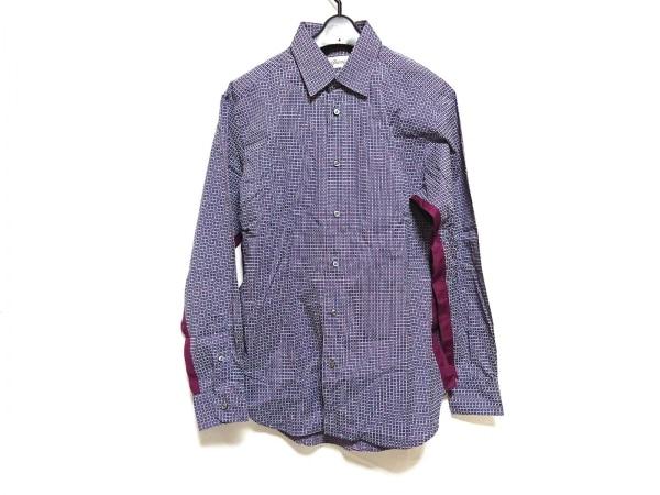 Brioni(ブリオーニ) 長袖シャツ サイズS メンズ美品  ネイビー×パープル×白