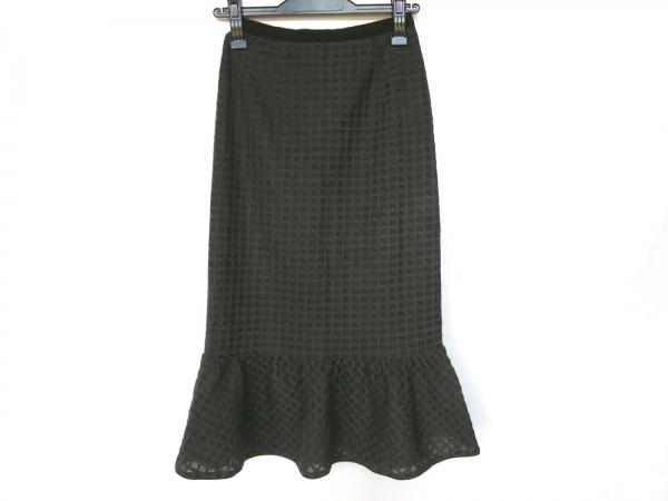 ハニーミーハニー スカート サイズF レディース新品同様  ダークグレー×黒