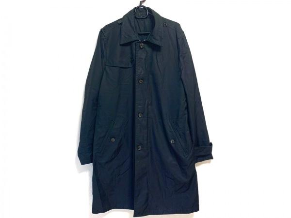 ErmenegildoZegna(ゼニア) コート サイズ50 メンズ美品  - - 黒 長袖/シルク/春/秋
