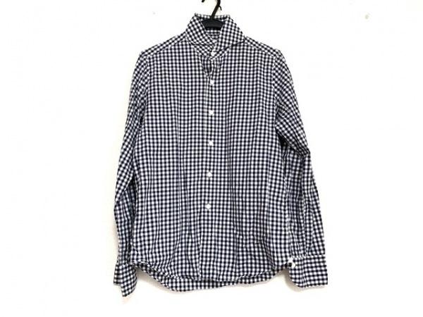 finamore(フィナモレ) 長袖シャツ サイズ15/38 メンズ美品  ダークネイビー×白