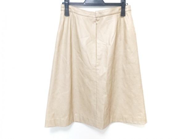 PICONE(ピッコーネ) スカート サイズ40 M レディース美品  ベージュ フェイクレザー