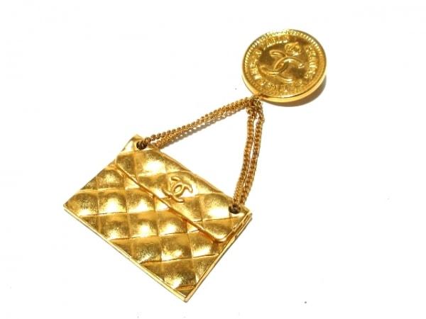 CHANEL(シャネル) ブローチ 金属素材 ゴールド バッグモチーフ