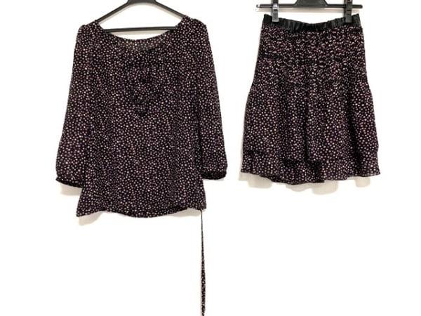 anySiS(エニシス) スカートセットアップ サイズ2 M レディース美品  黒×マルチ