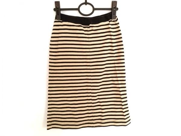 ソニアリキエル スカート サイズM レディース美品  ベージュ×黒×ゴールド