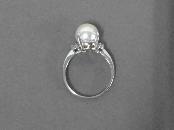ノーブランド リング美品  Pt900×パール×ダイヤモンド 4