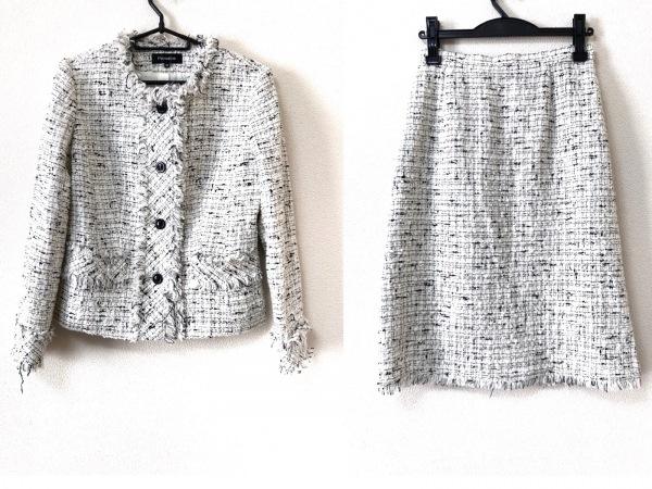 Premiere(プルミエール) スカートスーツ サイズ38 M レディース 白×黒