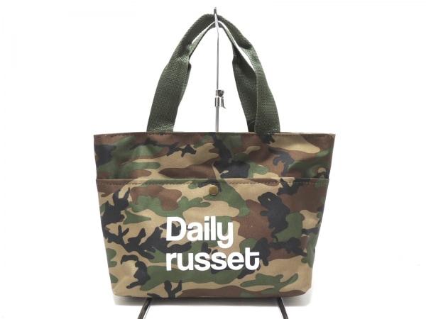 Daily russet(デイリーラシット) トートバッグ グリーン×マルチ 迷彩柄 ナイロン
