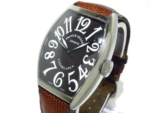 FRANCK MULLER(フランクミュラー) 腕時計 カサブランカ 5850 メンズ SS/革ベルト 黒