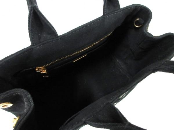 プラダ トートバッグ CANAPA 1BG439 黒×アイボリー キャンバス 6