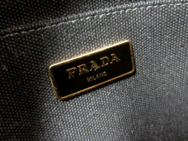 プラダ トートバッグ CANAPA 1BG439 黒×アイボリー キャンバス 7