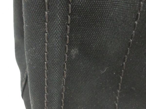プラダ トートバッグ CANAPA 1BG439 黒×アイボリー キャンバス 8