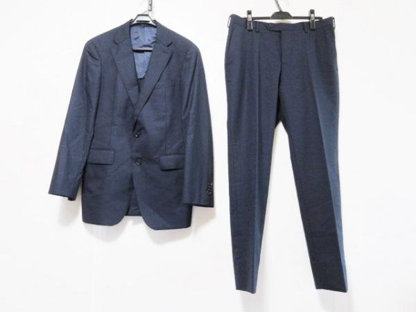 COMME CA MEN(コムサメン) シングルスーツ サイズL メンズ ダークネイビー