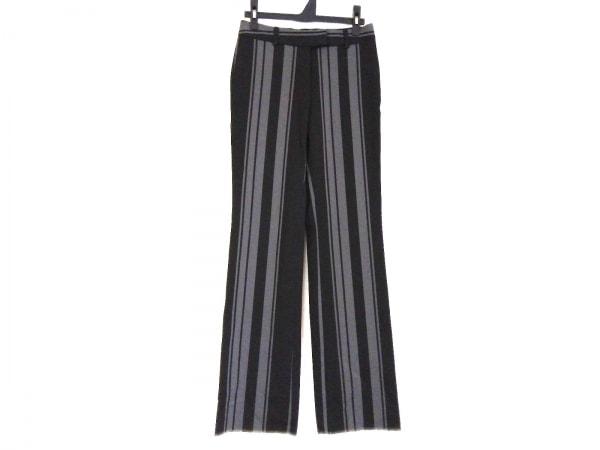 theory(セオリー) パンツ サイズ0 XS レディース 黒×グレー ストライプ
