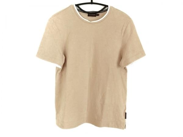 MONCLER(モンクレール) 半袖Tシャツ サイズS レディース ベージュ×白