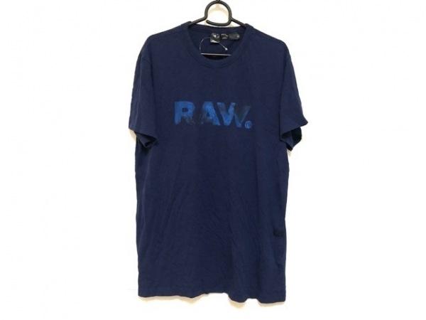 G-STAR RAW(ジースターロゥ) 半袖Tシャツ サイズL メンズ美品  ネイビー×ブルー×黒